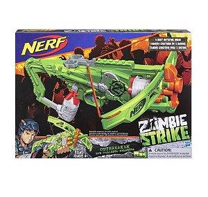 Lança Dardo Nerf Zombie Outbreaker Bow - Hasbro
