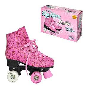 Patins Roller Estilo Rosa 37