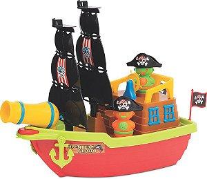 Barco Aventura Pirata com Caixa