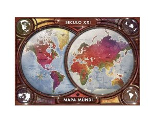 Puzzle Mapa Múndi Século XXI Quebra-Cabeça 4000 Peças Grow