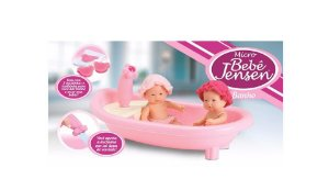 Boneca Micro Bebê Gêmeos Banho Roma