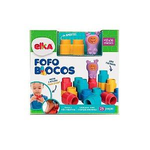 Brinquedo Educativo Infantil Fofo Blocos 25 Peças