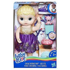 Boneca Baby Alive Festa Surpresa Loira