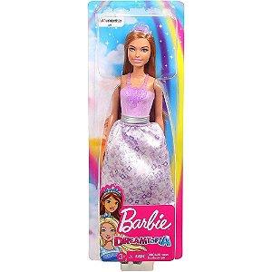 Barbie Dreamtopia  Princesa Ruiva com luzes Roxa Mattel -  F