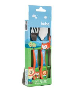 Kit Talher Infantil Happy Friends - Buba