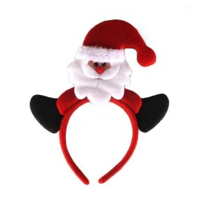 Enfeite Natal Kit c/ 02 Tiara Papai Noel D&A