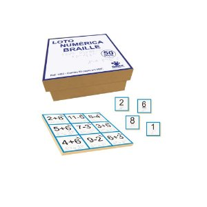 Loto Numérica em Braille  MDF CiaBrink