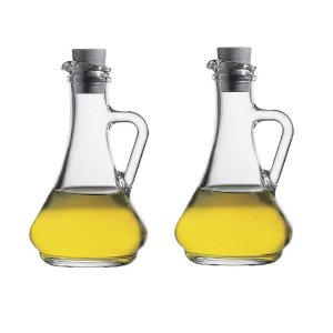 Conjunto Galheteiro Azeite e Vinagre  Olíva 260 ml