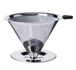 Filtro Coador de Café Aço Inox Reutilizável