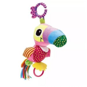 Chocalho Mordedor Colorido Tucano Zuzu Buba Toys