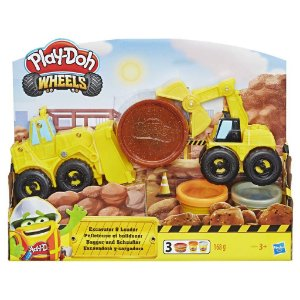 Massinha Play Doh Wheels Escavadeira e Carregadeira Hasbro