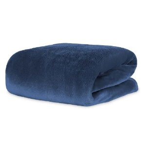 Cobertor Manta Blanket Solteiro 300g Blue Night - Kacyumara