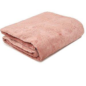 Cobertor Manta Blanket Jacquar Queen Rosa Brid- Kacyumara