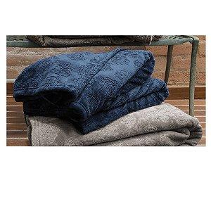 Cobertor Manta Blanket Jacquar Casal Blue- Kacyumara