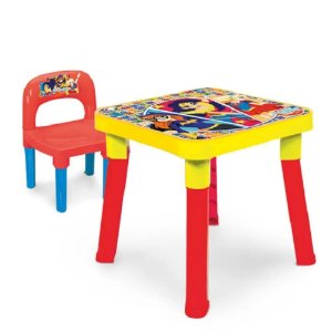 Mesinha Infantil com cadeira Super Hero Girls Monte Líbano