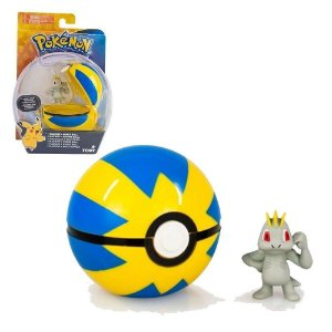 Mini Figura Pokémon - Machop e Quick Ball - Tomy