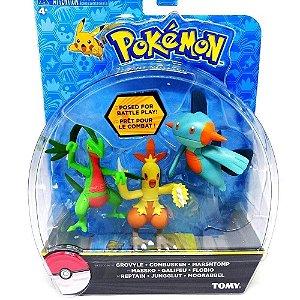 Boneco Pokémon Inicial Grovyle, Combusken, Marshtomp - Tomy