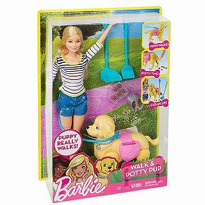 Barbie Família Passeio com Cachorrinho Mattel