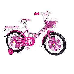 Bicicleta Infantil Princess Aro 16 Rosa Pink Unitoys