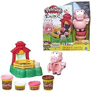 Massa de Modelar Porquinho Play-Doh Animal Crew Hasbro