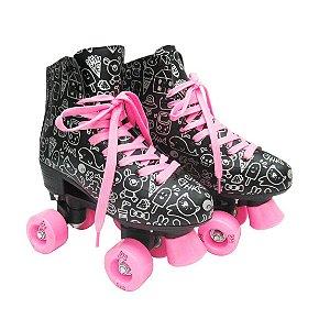 Patins Roller Estilo New Preto n. 32 DM Toys