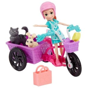 Boneca Polly Pocket Bicicleta & aventura com bichinhos