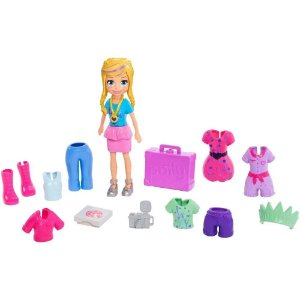 Boneca Polly Pocket Conjunto de viagens fashion