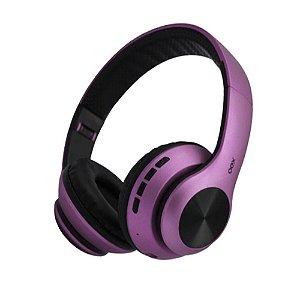Fone Bluetooth Dobrável Headset Glam Roxo OEX