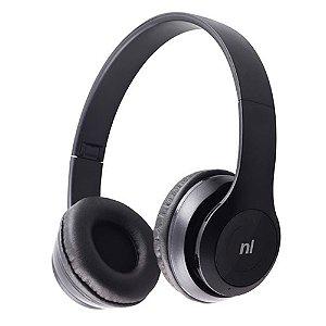 Fone Headset Essence Preto Bluetooth Dobrável Newlink
