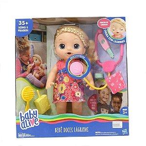Boneca Baby Alive Bebê Doces Lágrimas Loira Hasbro
