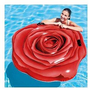 Colchão Inflável Para Piscina Rosa Vermelha Intex