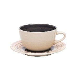 Xícara de Chá Café com Leite 200 ml Puzzling Avulsa Oxford