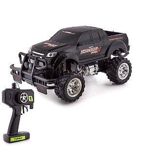 Carrinho de Controle Remoto Pick Up Preto Monster Truck