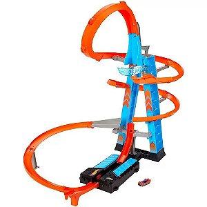 Pista Hot Wheels Torre De Colisão Aérea Mattel