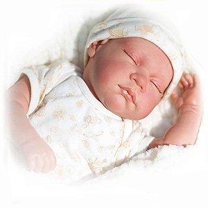 Boneca Bebê Reborn Bege Baby Brink