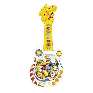 Guitarra Musical Infantil Educativa Paradise Com Som Dm Toys