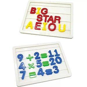 Jogo Brincar de Aprender Letras e Números Big Star