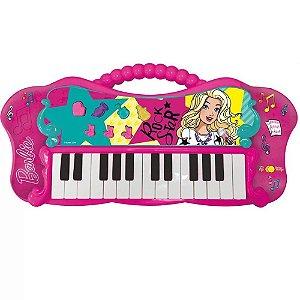 Teclado Infantil Fabuloso Barbie Função MP3 Fun