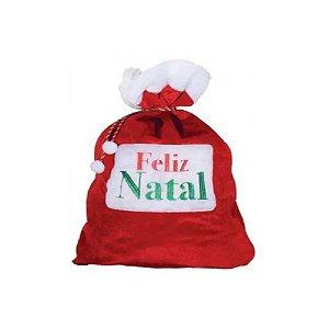 Saco Noel Veludo Enfeite Natal 50 x 70cm Yangzi