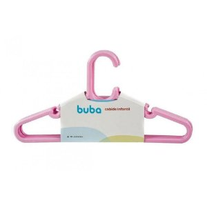 Kit Com 10 Cabides Infantil Rosa Buba - Cia Bebê