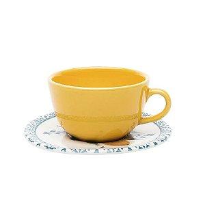 Xícaras de Chá com Pires Siciliano Avulsa Oxford 200 ml