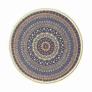 Kit c/ 02 Descanso Panela Blue Mandala Kacyumara