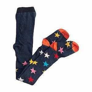 Meia Calça Infantil Estrelas Coloridas Cantarola
