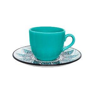 Kit Xícara Café e Pires 75 ml Serene Oxford