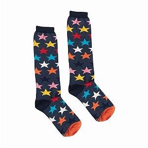 Meia Cantarola 3/4 Estrelas Coloridas