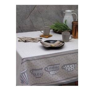 Toalha de Mesa Limpa Fácil 1,60 x 2,70 cm Cups Kacyumara