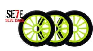 Rodas P/ Patins Roller Inline 125mm/82a Verde kit 03 Unidades