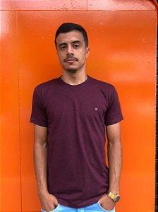 Camiseta Basica Vinho Mescla