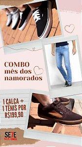 KIT NAMORADOS CALÇA + TENIS CASUAL