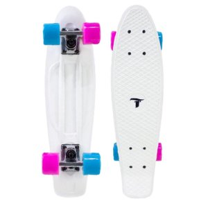 "Skate Mini Cruiser Traxart 22""x6"" Branco"
